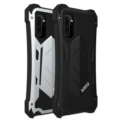 R-Just Armor Series Shock Proof Powerful Metal & Silicone Protective Case For Samsung Note 10 Plus/Note 10