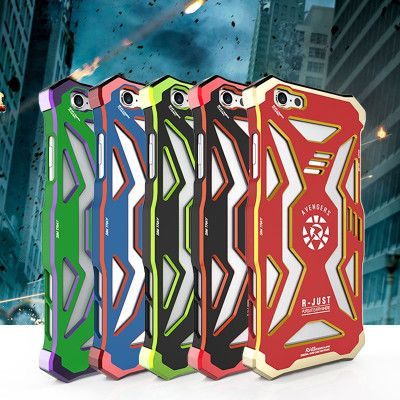 R-JUST Avengers Hero Series Aluminium Metal Shockproof Back Cover Case For iPhone 6 Plus/6S Plus