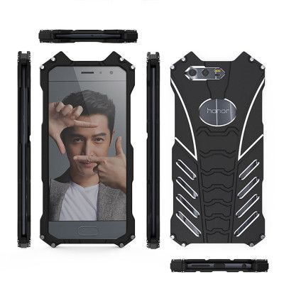 R-Just Batman Series Shockproof Aluminum Alloy Metal Protective Case For Huawei Honor 9