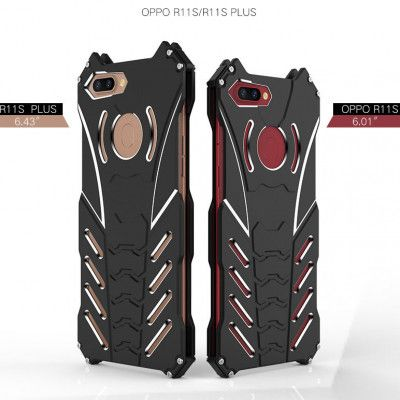 R-Just Batman Series Shockproof Aluminum Alloy Metal Protective Case For OPPO R11s/R11s Plus