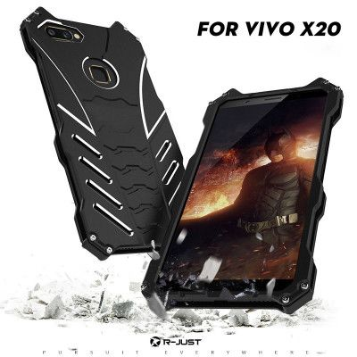 R-Just Batman Series Shockproof Aluminum Alloy Metal Protective Case For ViVO X20