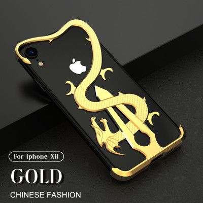 R-Just Chinese Sword Dragon Shockproof Aluminum Alloy Metal Protective Case For iPhone XS/XR/XS Max/iPhone X