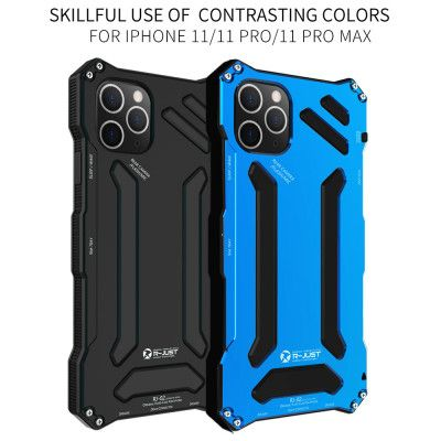 R-Just Dirt Proof & Shock Proof & Water Proof Powerful Metal Protective Case For iPhone 11 Pro Max/11 Pro/iPhone 11
