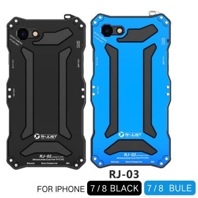 R-Just Dirt Proof & Shock Proof & Water Proof Powerful Metal Protective Case For iPhone 7 iPhone 8