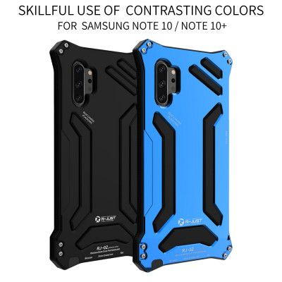R-Just Dirt Proof & Shock Proof & Water Proof Powerful Metal Protective Case For Samsung Note 10/Note 10 Plus