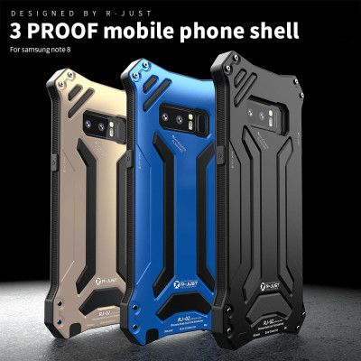 R-Just Dirt Proof & Shock Proof & Water Proof Powerful Metal Protective Case For Samsung Note 8