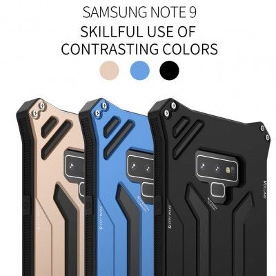R-Just Dirt Proof & Shock Proof & Water Proof Powerful Metal Protective Case For Samsung Note 9