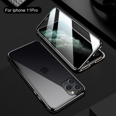 R-Just Double Sided High Definition Toughened Glass Magnetic Adsorption Metal Frame For iPhone 11 Pro Max/11 Pro/11