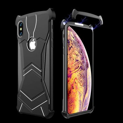 R-Just New Magnetic Panther Metal Cover Case For iPhone XR/XS Max/XS/X