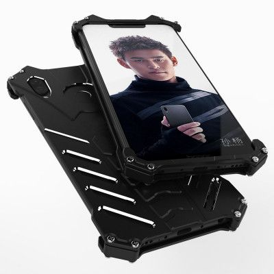 R-Just Shockproof Aluminum Alloy Metal Protective Case For Huawei Honor Play