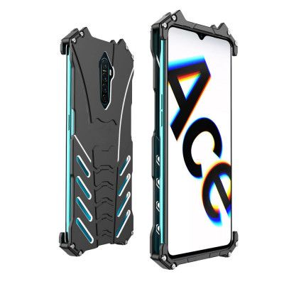 R-Just Shockproof Aluminum Alloy Metal Protective Case For OPPO Reno Ace