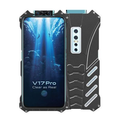 R-Just Shockproof Aluminum Alloy Metal Protective Case For ViVO V17 Pro