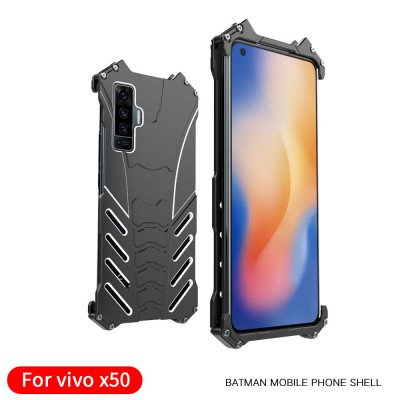 R-Just Shockproof Aluminum Alloy Metal Protective Case For VIVO X50 Pro/X50
