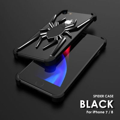 R-Just Shockproof Aluminum Alloy Metal Shining Spider Case For iPhone 7/8/iPhone 7P/8P
