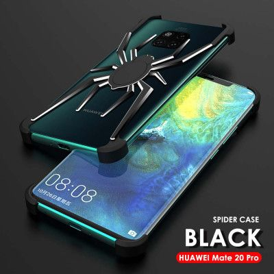 R-Just Shockproof Aluminum Alloy Metal Shining Spider Case For HUAWEI Mate 20 Pro/Mate 20