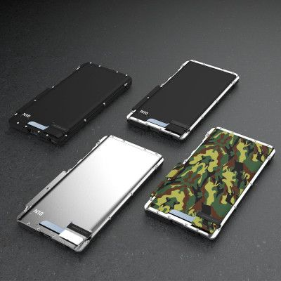 R-Just Stainless Steel Metal Full Protection Shockproof Flip Protective Case For Samsung GALAXY Note 10/Note 10+ 5G