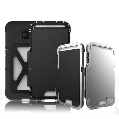 R-Just Stainless Steel Metal Full Protection Shockproof Flip Protective Case For Samsung S6/S6 Edge/S6 Edge Plus