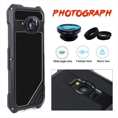 R-Just Three-Proof Powerful Metal Photograph Protective Case With External Camera Bayonet For Samsung S8 Plus/S8