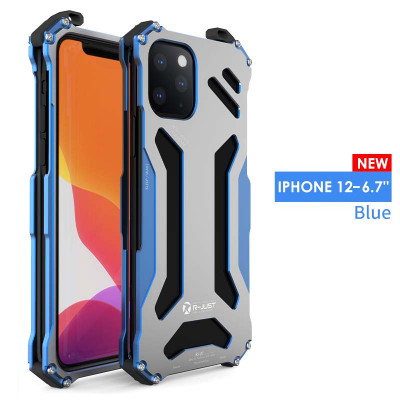 R-Just Ultra Thin Cool Aluminum Alloy Shock Proof Metal Shell For iPhone 12/12 Pro/12 Mini/12 Pro Max