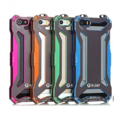 R-Just Ultra Thin Cool Aluminum Alloy Shock Proof Metal Shell With Hook Design For iPhone 5/5S/5C