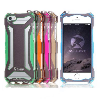 R-Just Ultra Thin Cool Aluminum Alloy Shock Proof Metal Shell With Hook Design For iPhone 6