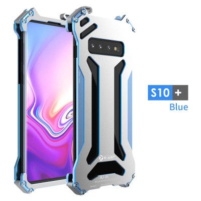 R-Just Ultra Thin Cool Aluminum Alloy Shock Proof Metal Shell With Hook Design For Samsung Galaxy S10 Plus / S10 Lite / S10