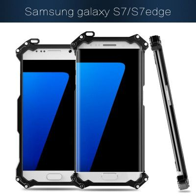 R-Just Ultra Thin Cool Aluminum Alloy Shock Proof Metal Shell With Hook Design For Samsung S7/S7 Edge