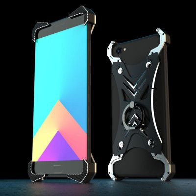 R-Just Ultra Thin Cool Aluminum Alloy Shock Proof Metal Shell With Ring Buckles For ViVO X9s/X9s Plus/X9/X9 Plus
