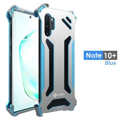 R-Just Ultra Thin Shockproof Metal Shell With Hook Design For Samsung Galaxy Note 10+ Note 10