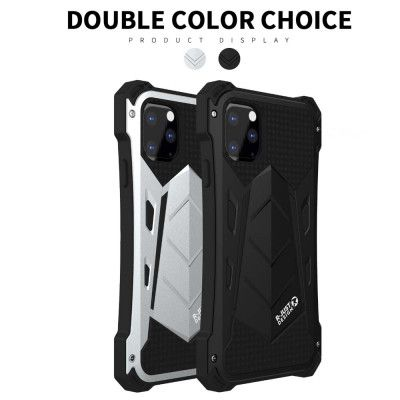 R-Just Water Proof & Shock Proof Powerful Metal & Silicone Protective Case For iPhone 11 Pro Max/iPhone 11 Pro/iPhone 11