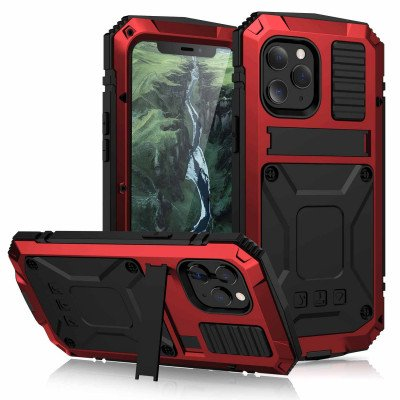 R-Just Invisible Bracket Shockproof Dustproof Protective Case For iPhone 12 Pro Max/12 Pro/12 Mini/12