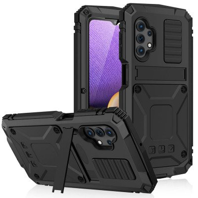 R-Just Invisible Bracket Shockproof Dustproof Protective Case For Samsung A32 5G