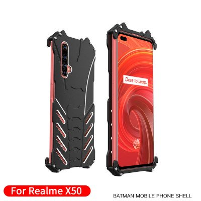 R-Just Shockproof Aluminum Alloy Metal Protective Case For Realme X50/X50 Pro