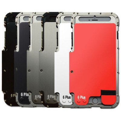 R-Just Stainless Steel Metal Full Protection Shockproof Flip Protective Case For iPhone 6/6S/Plus