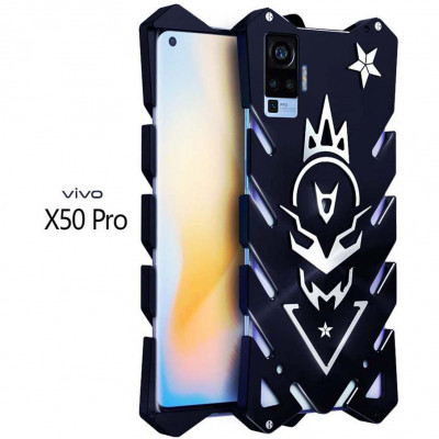 SIMON Cool Aluminum Alloy Metal Frame Bumper Cover Case For VIVO X50 Pro/X50