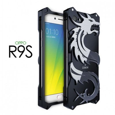 SIMON Dragon Style Aluminum Alloy Metal Case Cover For OPPO R9S
