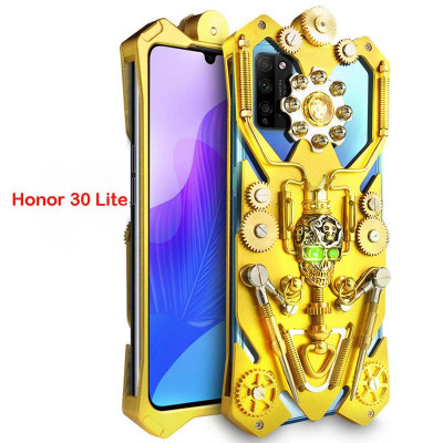Simon Gothic Steampunk Mechanical Gear Metal Case For HUAWEI Honor 30 Lite