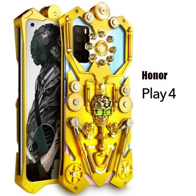 Simon Gothic Steampunk Mechanical Gear Metal Case For HUAWEI Honor Play 4