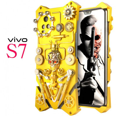 Simon Gothic Steampunk Mechanical Gear Metal Case For VIVO S7