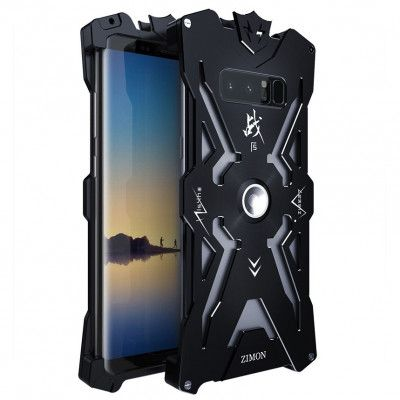 SIMON Mars Style Aluminum Alloy Frame Bumper Cover Case For Samsung Note 8