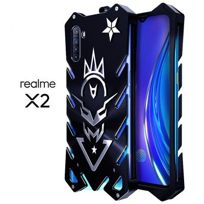 SIMON New Style Cool Aluminum Alloy Metal Frame Bumper Cover Case For Realme X2/Realme Q