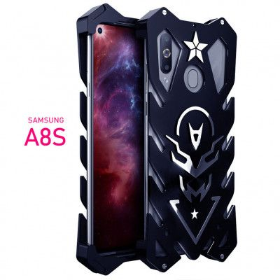 SIMON New Style Cool Aluminum Alloy Metal Frame Bumper Cover Case For Samsung A8S