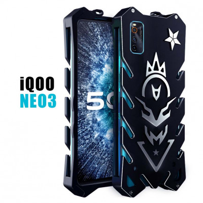 SIMON New Style Cool Aluminum Alloy Metal Frame Bumper Cover Case For ViVO iQOO NEO 3