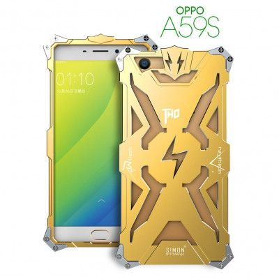 SIMON THOR Aluminum Alloy Metal Frame Bumper Cover Case For OPPO A59S