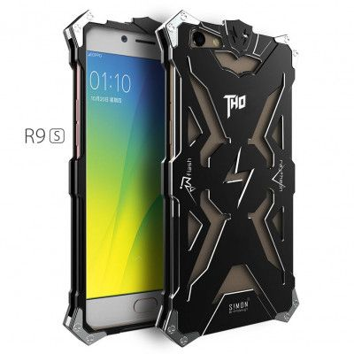 SIMON THOR Aluminum Alloy Metal Frame Bumper Cover Case For OPPO R9S