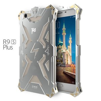 SIMON THOR Aluminum Alloy Metal Frame Bumper Cover Case For OPPO R9S Plus