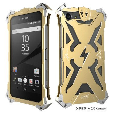 SIMON THOR Aluminum Alloy Metal Frame Bumper Cover Case For Sony Xperia Z5 Compact