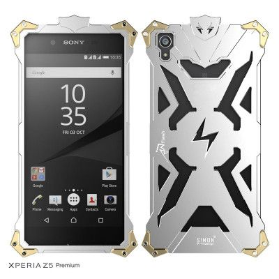 SIMON THOR Aluminum Alloy Metal Frame Bumper Cover Case For Sony Xperia Z5 Premium