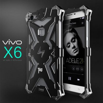 SIMON THOR Aluminum Alloy Metal Frame Bumper Cover Case For VIVO X6