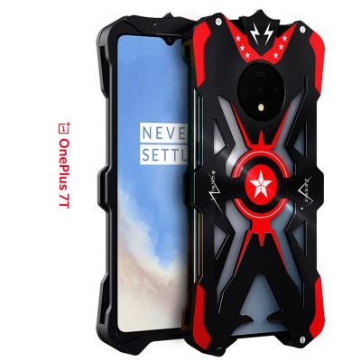 SIMON Upgraded Version Aluminum Alloy Metal Frame Bumper Cover Case For OnePlus 7T
